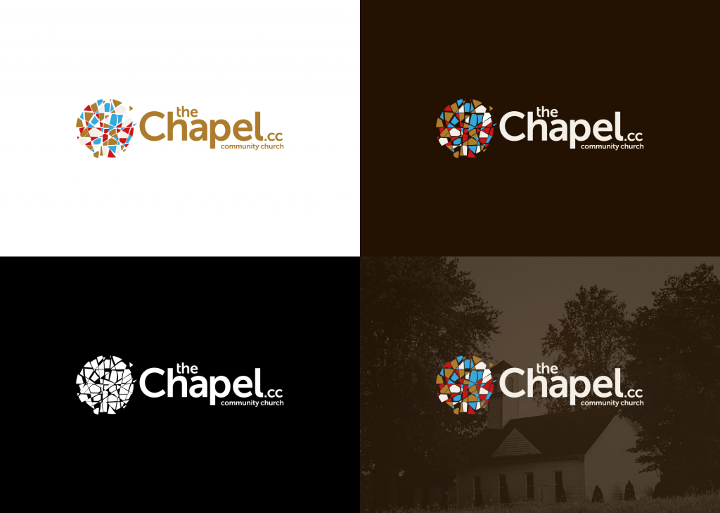theChapel Color Variations - Church Logo Design Ideas